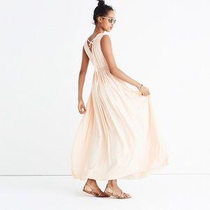 Madewell Magnolia Tie-Back Maxi Dress Cream XXS